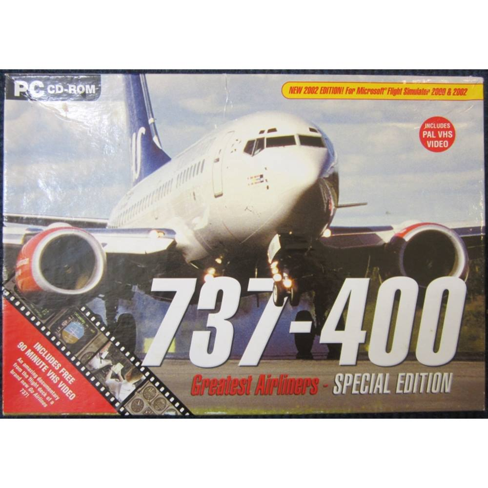 Greatest Airliners 737-400 Special Edition (For Microsoft Flight Simulator  2000 & 2002) [PC CD-ROM]
