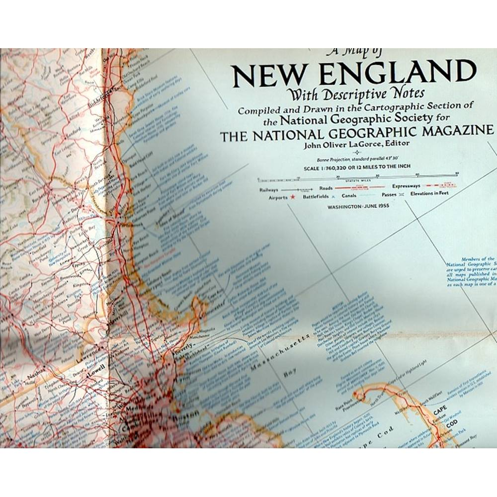 2 1950s National Geographic maps: Historical map of the United States; New  England For Sale in Newport, Isle Of Wight, London | Preloved