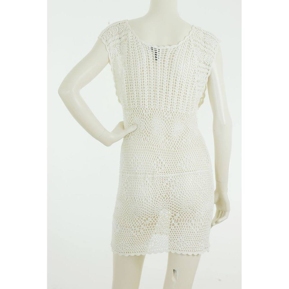 638bb540fb94d H&M Size: 8 Cream Crochet Dress | Oxfam GB | Oxfam's Online Shop