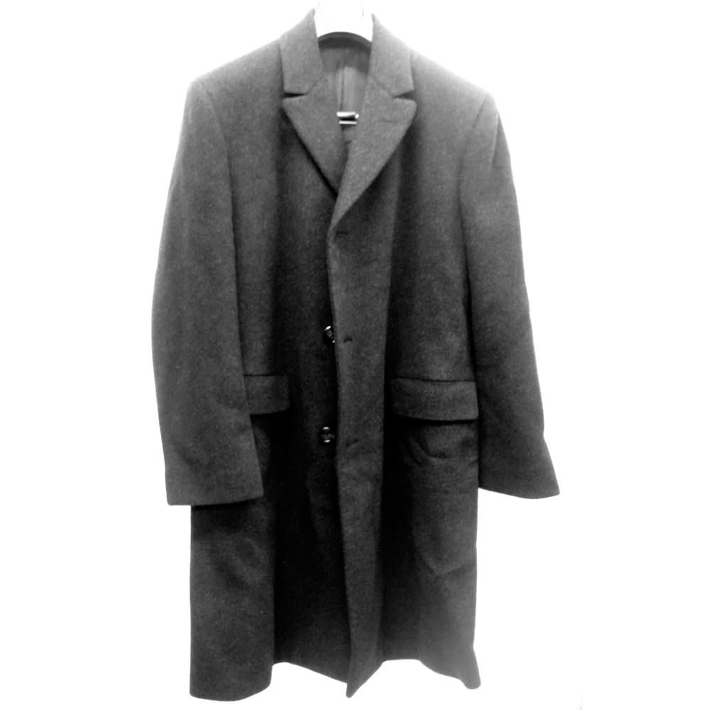 Men's long overcoat, dark grey, size 38, Knights Knights - Size: M - Grey - Overcoat for sale  Market Harborough
