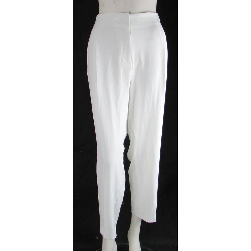 e3befac5e42 BNWOT M S Collection - Size 20 Short - Winter White - Tapered Leg Trousers