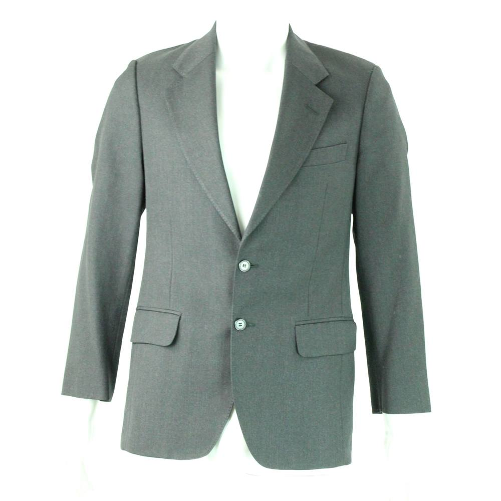 Austin Reed Size 36 Dark Grey Worsted Wool Single Breasted Suit Jacket For Sale In Darlington County Durham Preloved