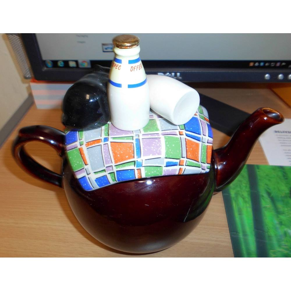 Vintage Cardew Design Tea Shop Teapot Signed Vgc Cardew