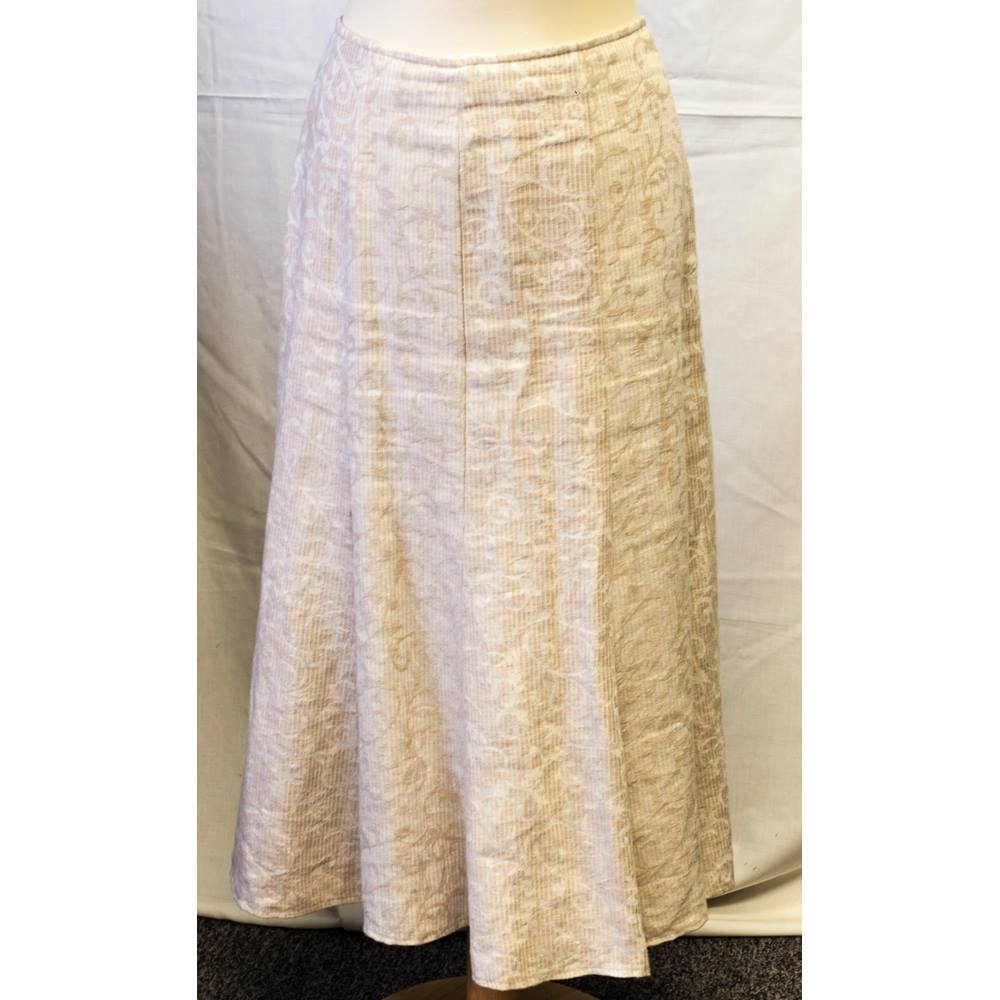 e8e950e84895d Ladies Per Una skirt size 14r Per Una - Size  18 - Beige - Calf length skirt