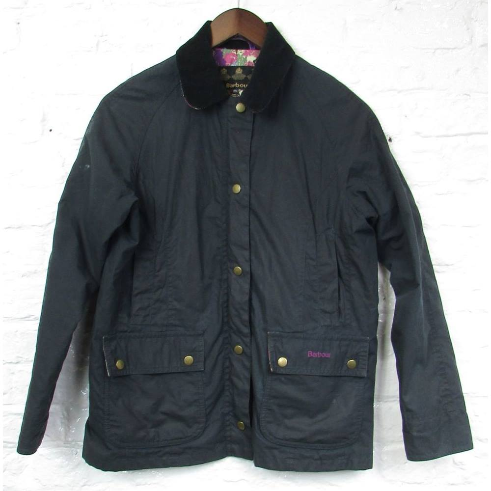100f96508 Barbour - Size: 12 - 13 Years - Black - Sophie Waxed Jacket | Oxfam ...