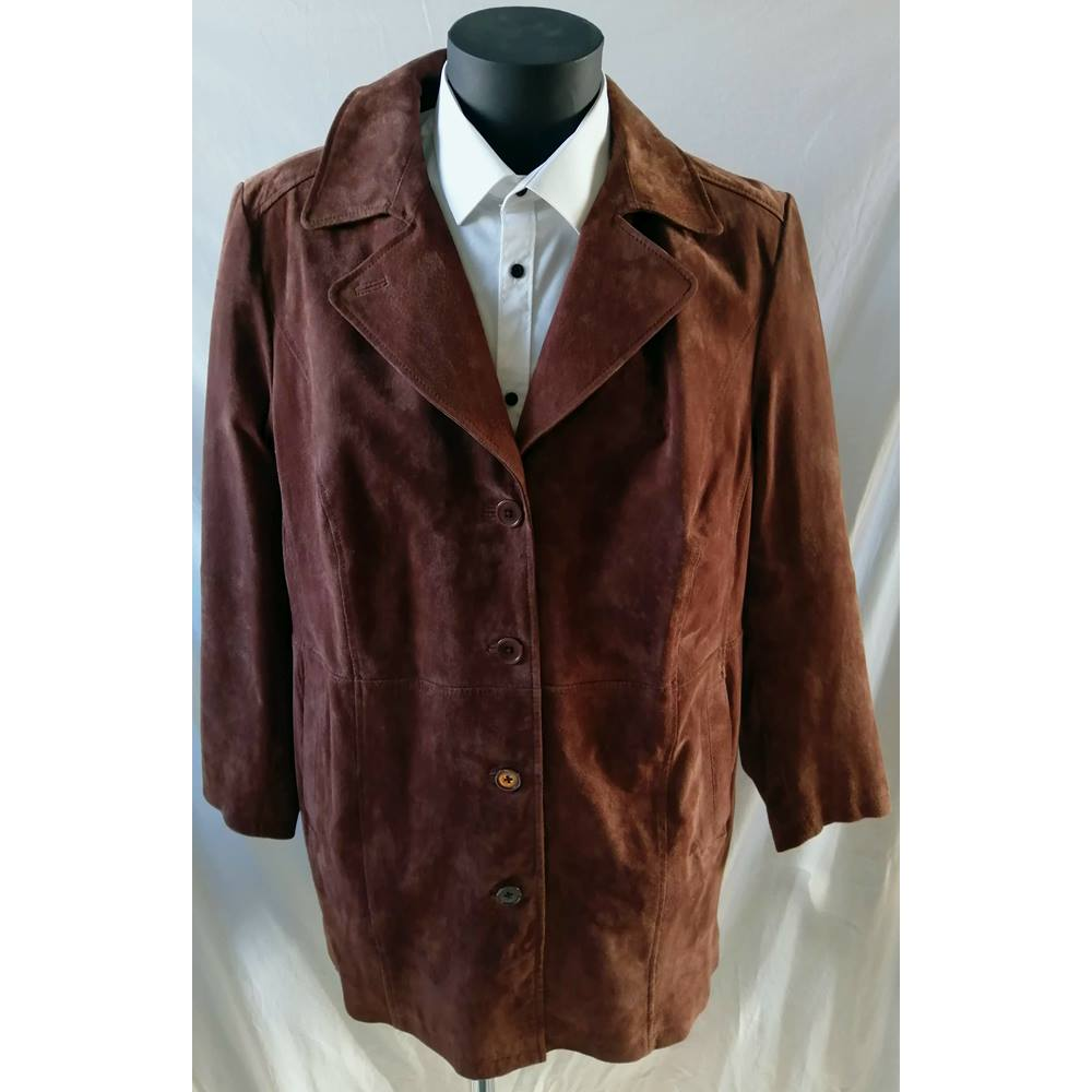 3a0ef661560e8c Mona - Size  L - Brown - Real Leather jacket