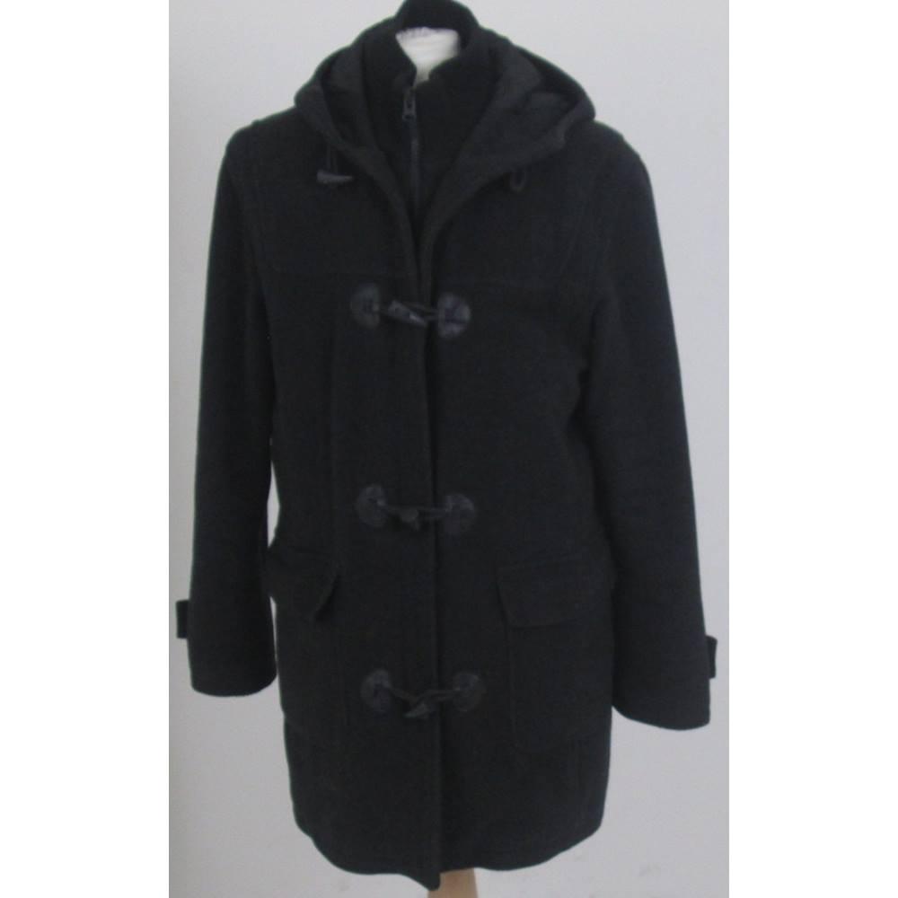 820bdf1f Zara Man Size L Black Hooded Coat   Oxfam GB   Oxfam's Online Shop