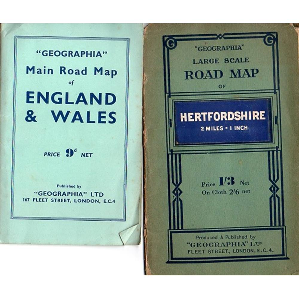 Driving Map Of England And Wales.2 Geographia Maps Hertfordshire Main Road Map Of England Wales Oxfam Gb Oxfam S Online Shop