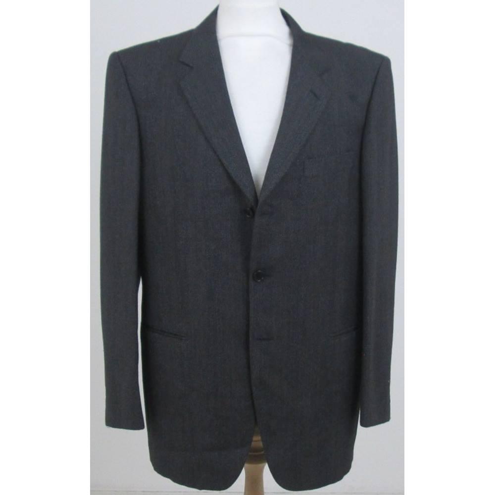 fcadaa88934 Nino Cerruti Size XL Grey with wide stripe single breasted suit jacket ...