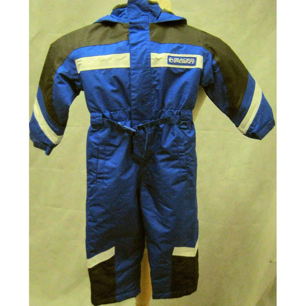 038998767715 Glacier Point Matalan child's blue ski suit Glacier Point - Size: 2 - 3  Years. Loading zoom