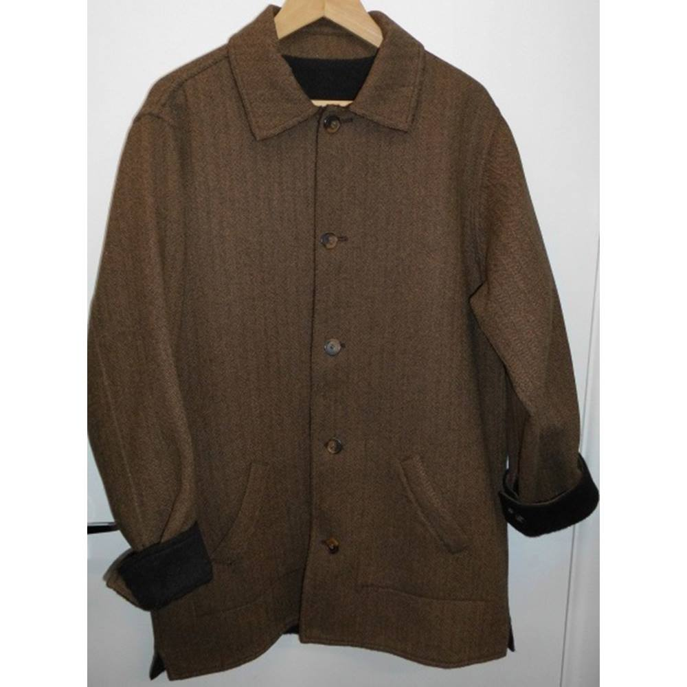 20e1e0c56be Peruvian Connection Baby Alpaca and Wool Reversible Brown and Tweed ...