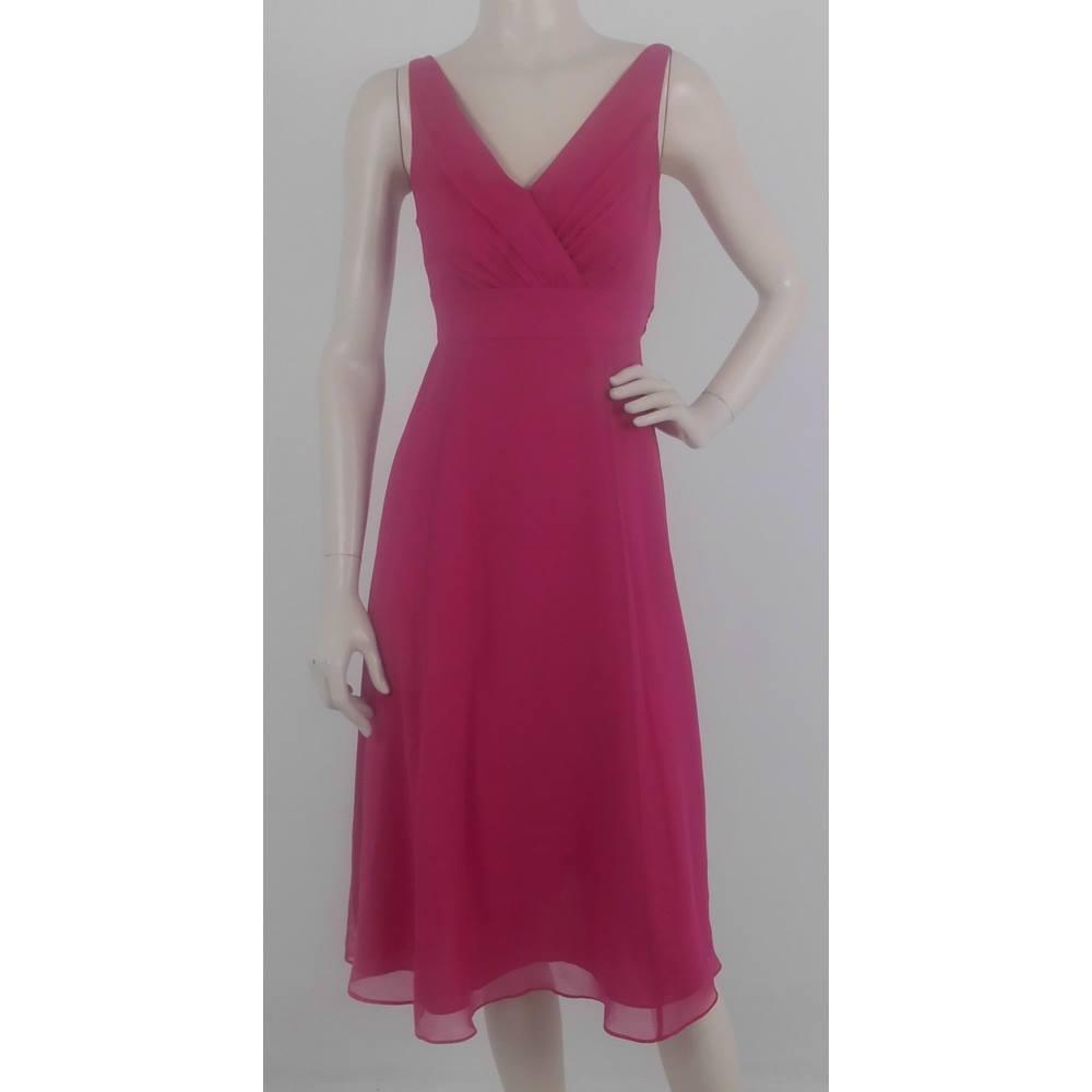 pre order free delivery professional sale LK Bennett Size 6 Shocking Pink Silk Cocktail Dress For Sale in ...