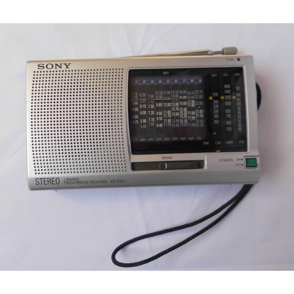 Sony ICF-SW11 Shortwave, AM/FM Radio Stereo MW LM SW (1-9) 12BAND Receiver  | Oxfam GB | Oxfam's Online Shop
