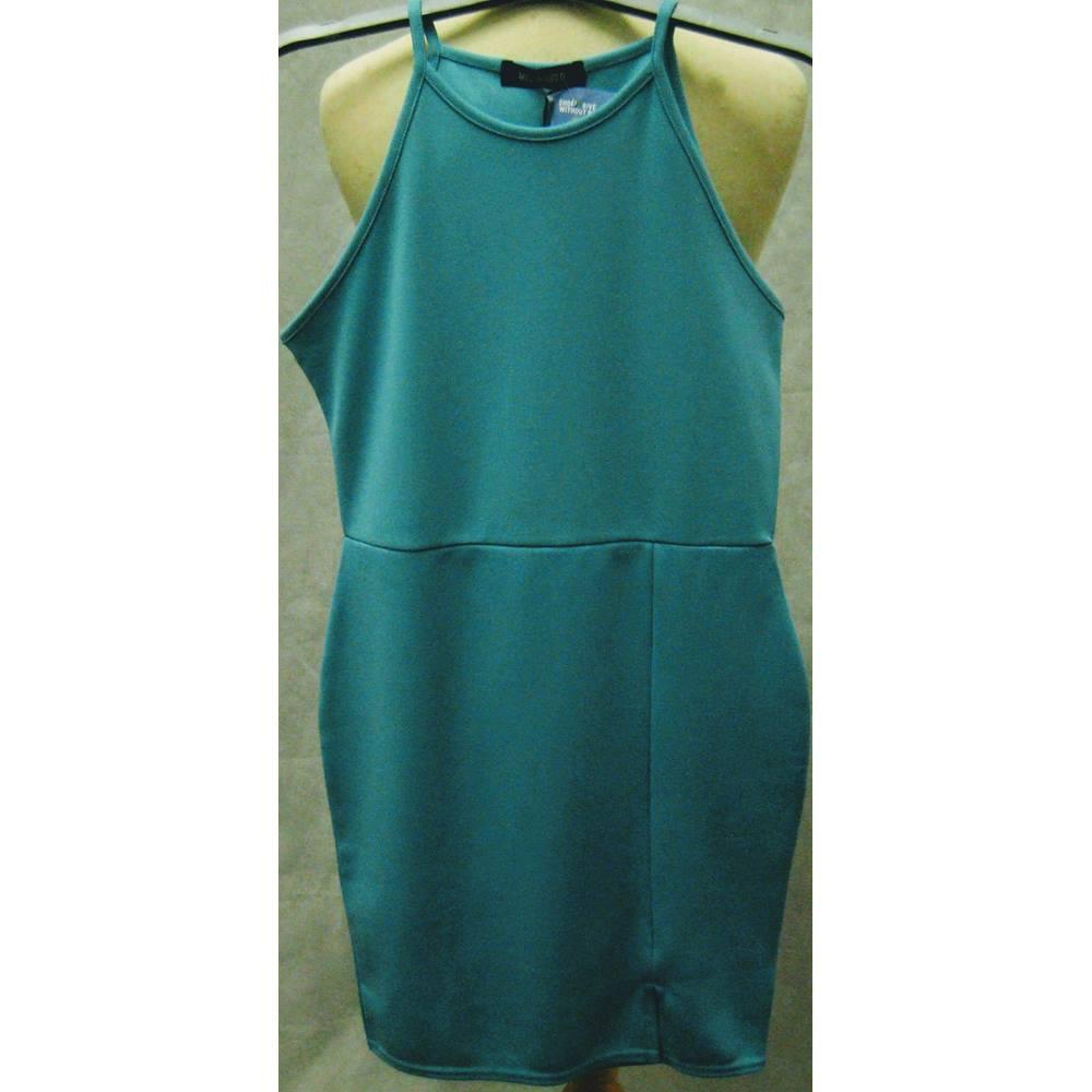 2c08242b5f15 Missguided turquoise bodycon dress size 12/EU40 BNWT Missguided - Size: 12  - Blue - Mini dress