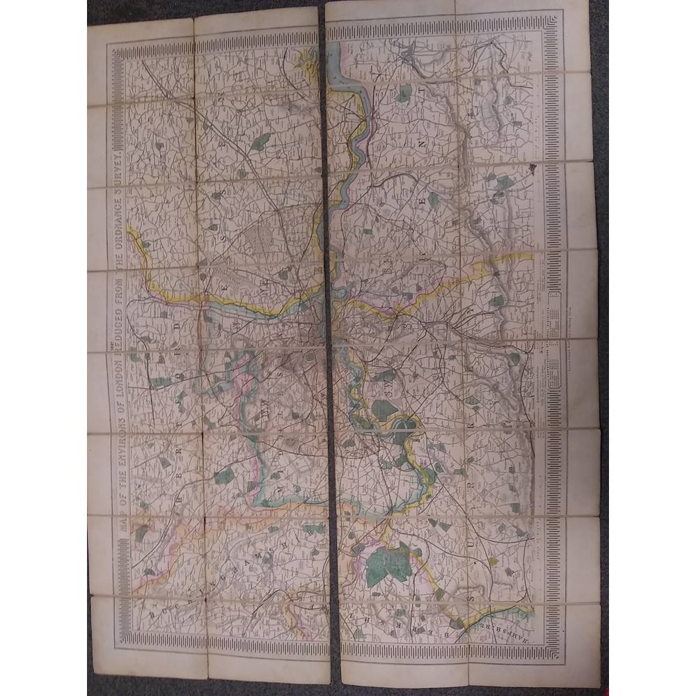 The Map Shop London.Map Of The Environs Of London Ordnance Survey 1857 Oxfam Gb Oxfam S Online Shop