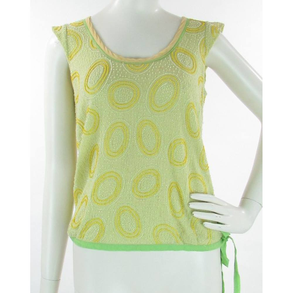 95ddc15722 French Connection - Size: 8 - Green - Cotton - Sleeveless top | Oxfam ...
