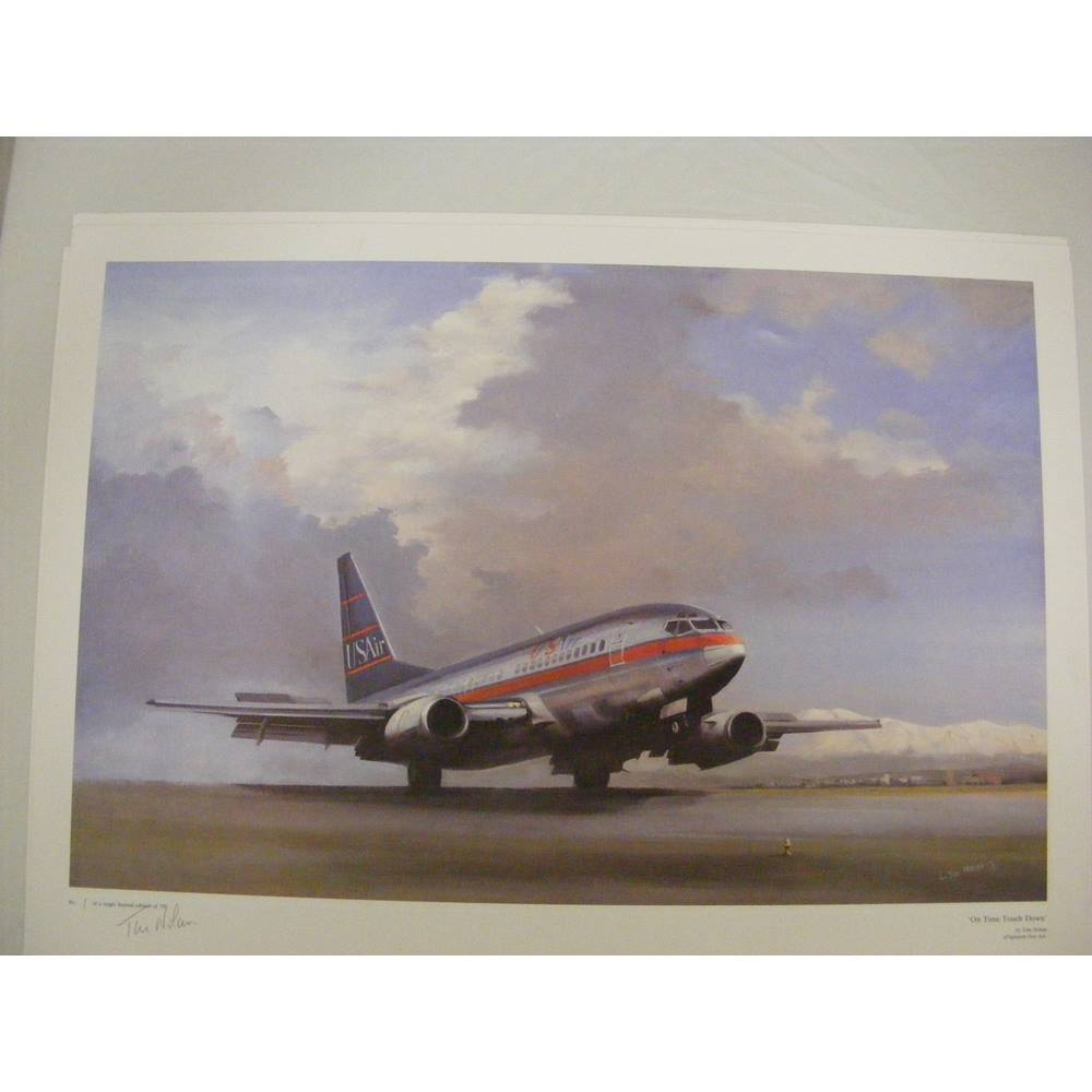 'On Time Touch Down' Signed Limited Edition Print by Tim Nolan 1/750 For  Sale in Exmouth, London | Preloved