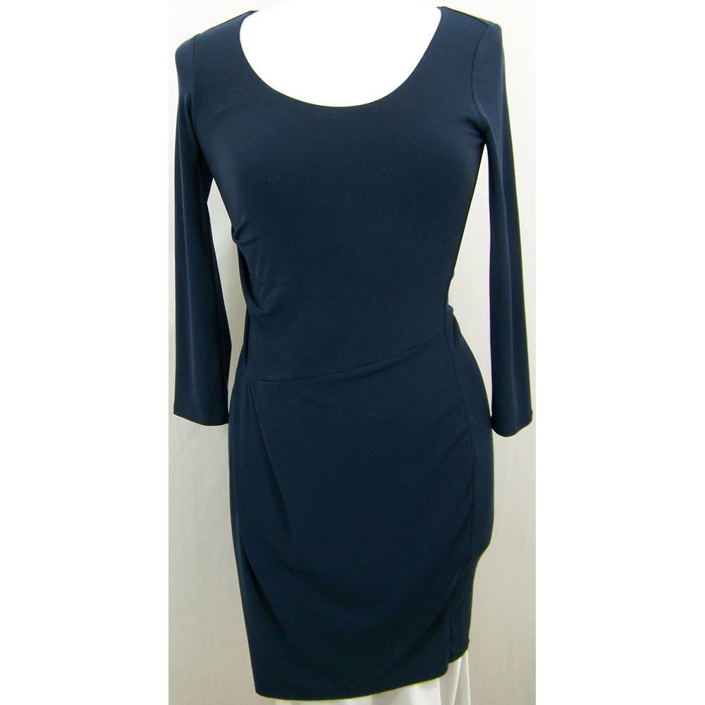 2fec9acfcd3 Oxfam Bookshop Lymington Velvet by Graham   Spencer as new high quality stretch  navy blue dress