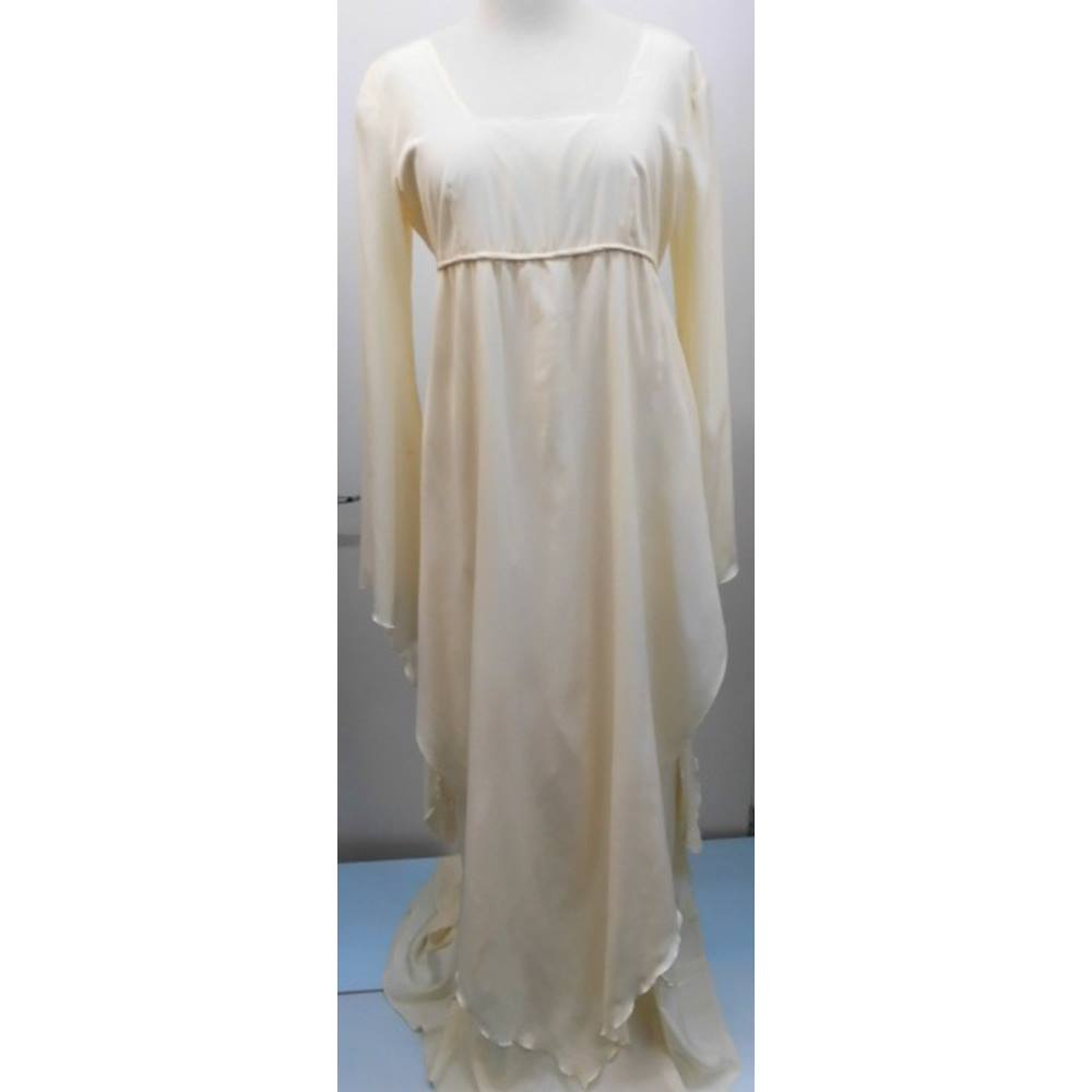 Renaissance Wedding Dress.Handmade Vintage 1970s Medieval Renaissance Wedding Gown Kaftan Handmade Size 12 Cream Ivory Oxfam Gb Oxfam S Online Shop