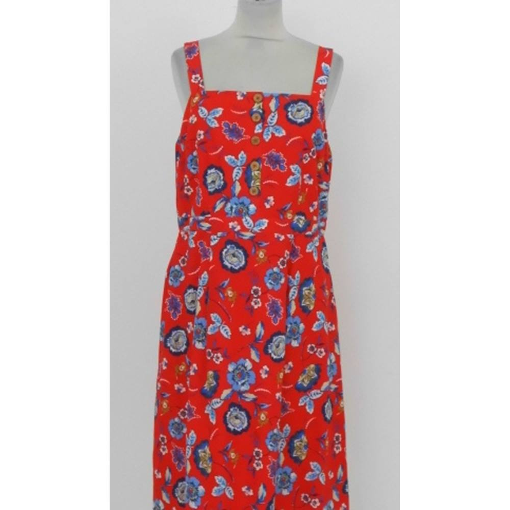 9e391bf1709 ... sun dress from TU at Sainsburys. This cotton dress is fully lined with  wide shoulder straps and closes at the front bodice with leather look  buttons.