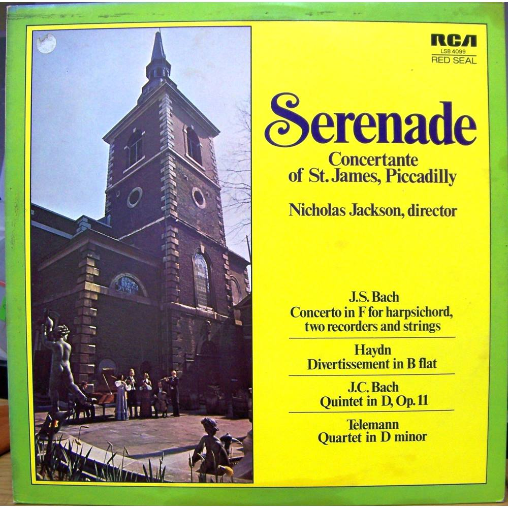 Preview of the first image of SERENADE: Concertante of St. James. Piccadilly Concertante of St. James, Piccadilly - LSB4099.