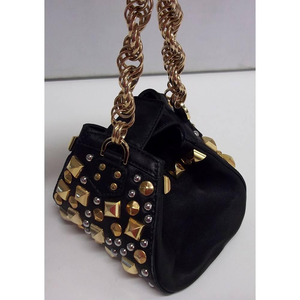 1319760c4e947 Versace for H&M - Black - Leather Mini Bag | Oxfam GB | Oxfam's ...