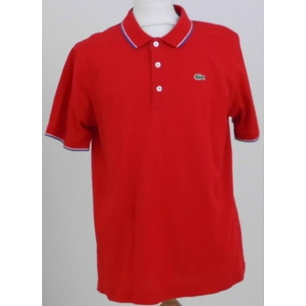 new styles 996e2 35682 Lacoste Size: XL Red Polo shirt   Oxfam GB   Oxfam's Online Shop