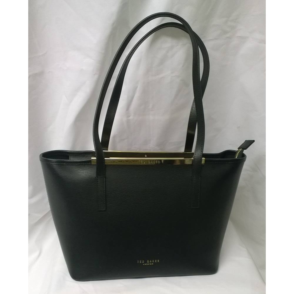 b37f16b2aa Ted Baker Noelle Tote Black Leather Bag | Oxfam GB | Oxfam's Online ...
