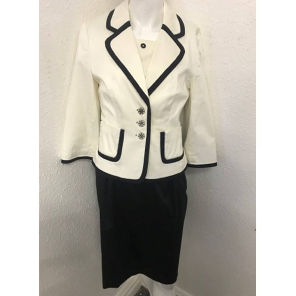 43a7198c M&S Autograph Dress & Jacket Set - Black & White - Size 12 For Sale in  Richmond, Yorkshire, London | Preloved