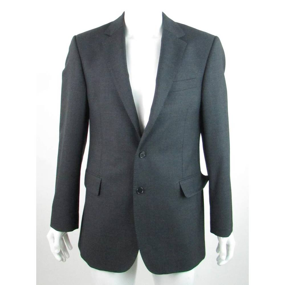 Austin Reed Size 48r Charcoal Grey 100 Wool Single Breasted Suit Jacket For Sale In Darlington County Durham Preloved