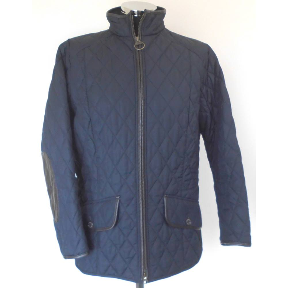 723783277 Barbour Size 16 Black 'Stallion Quilt' Jacket | Oxfam GB | Oxfam's Online  Shop