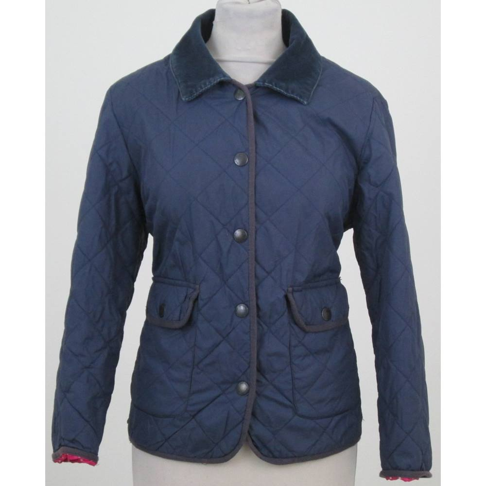 pick up utterly stylish sneakers for cheap Jack Wills size 12 Navy Blue Quilted Jacket
