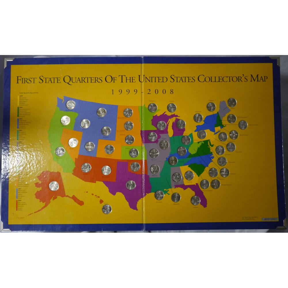 Preview of the first image of First State Quarters Complete Set (1999-2008).