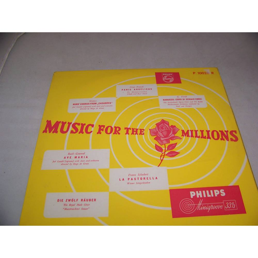 """Preview of the first image of Music for the Millions Various Artists - p 10028 r - 10"""" mini LP."""