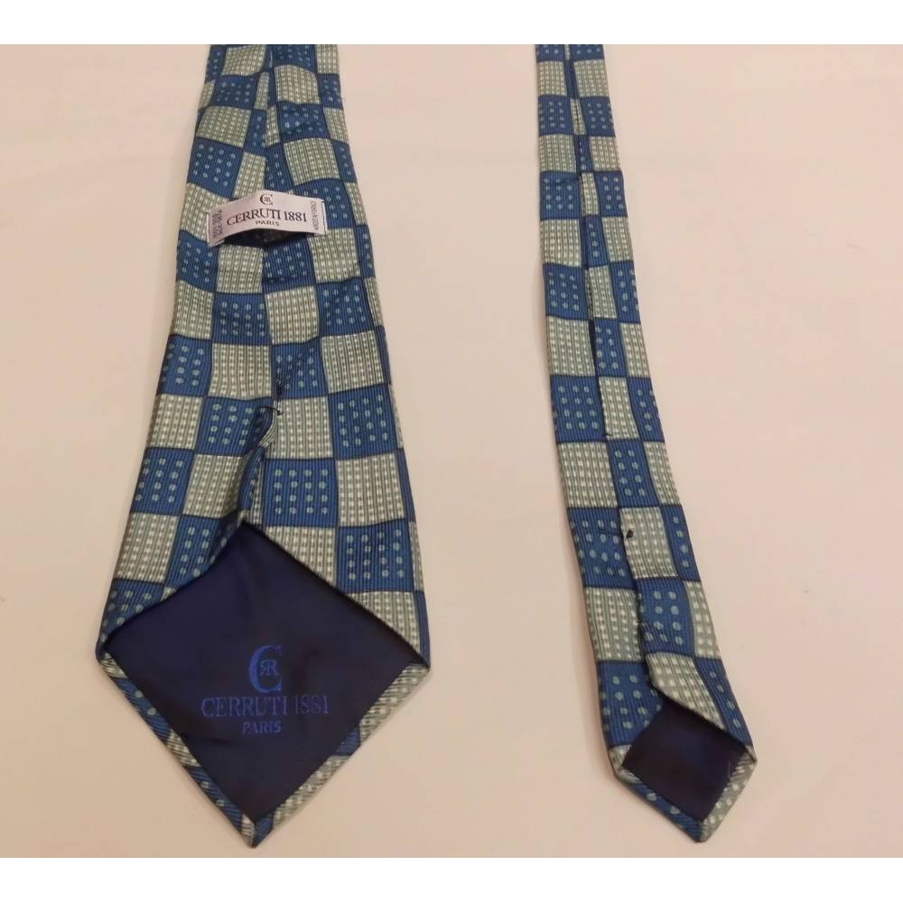 Preview of the first image of Cerruti 1881 Silk Tie Blue Size: One size.