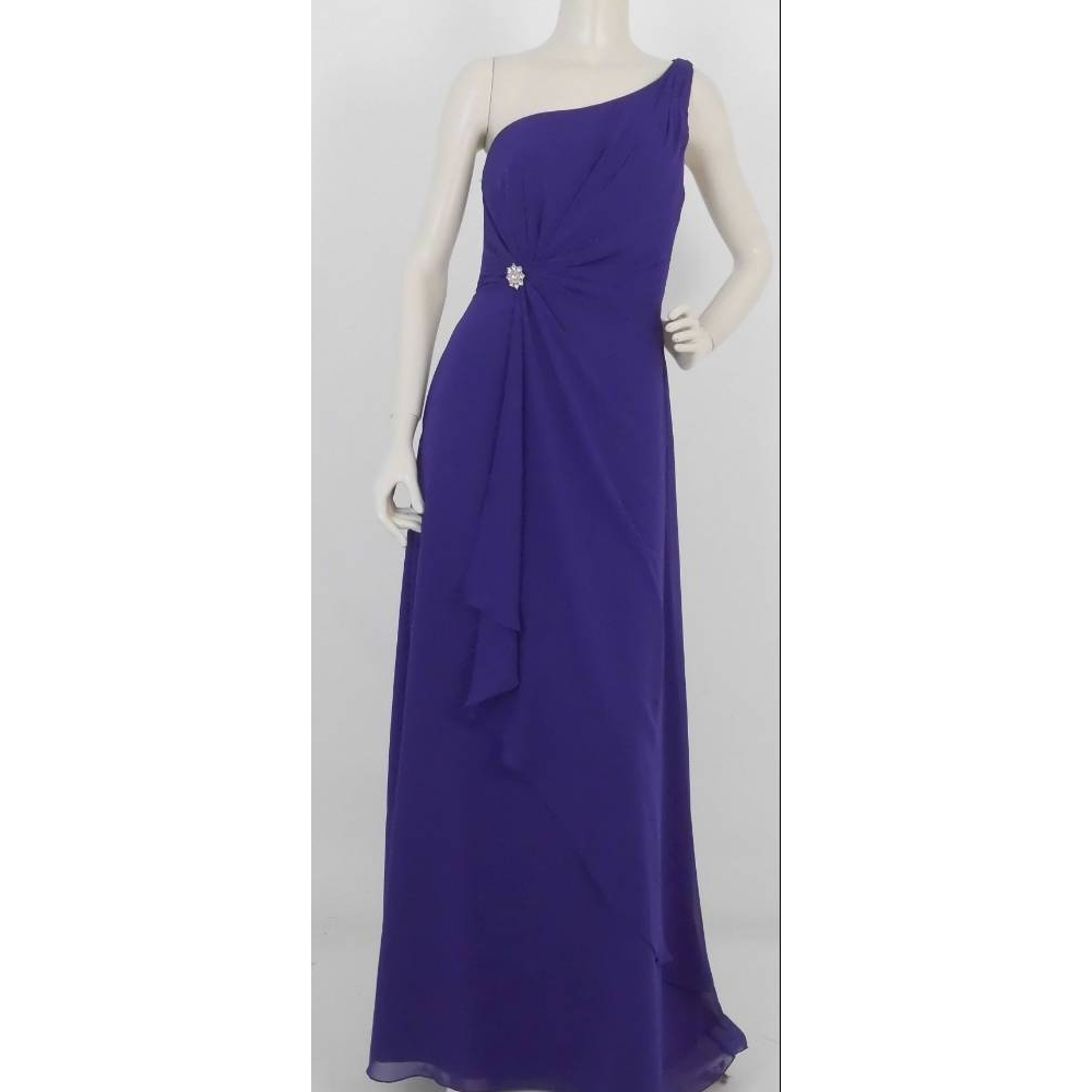 Image 1 of Madeline Gardner BNWT One Shoulder Dress Purple Size: 12