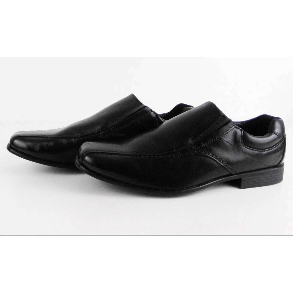 M/&S Kids Black Leather PATENT SCHOOL Shoes LACE UP WITH INSOLIA  UK 3 BNWT £32