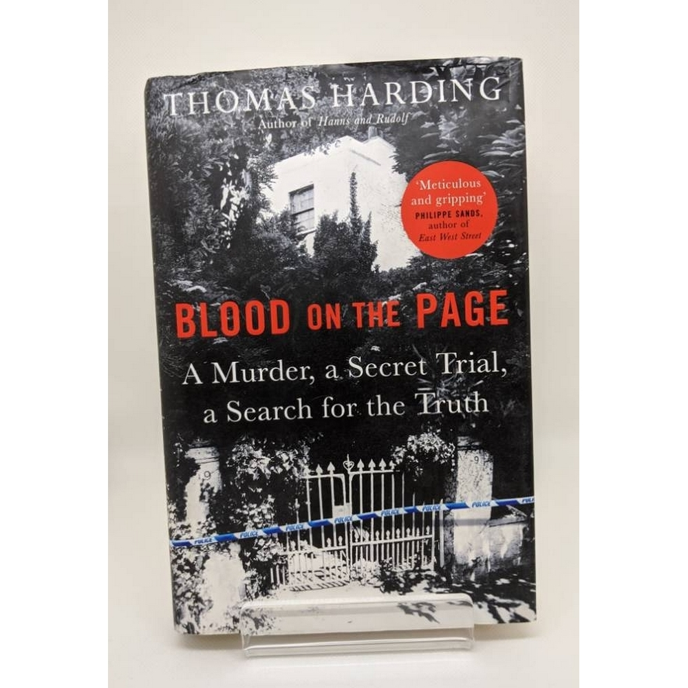 Preview of the first image of Blood on the Page: A Murder, a Secret Trial, a Search for the Truth by Thomas Harding - Signed.