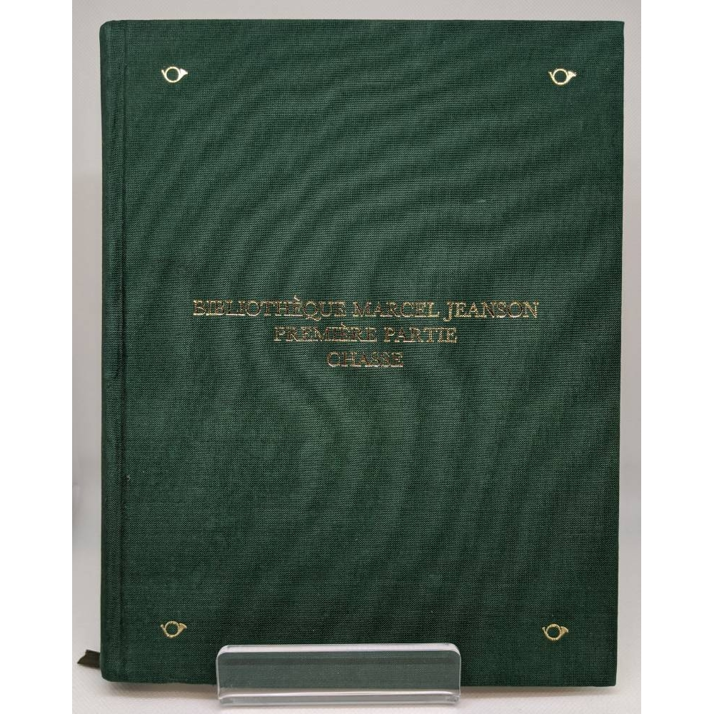 Preview of the first image of Bibliotheque Marcel Jeanson Premiere Partie Chasse - Sotheby's Catalogue.