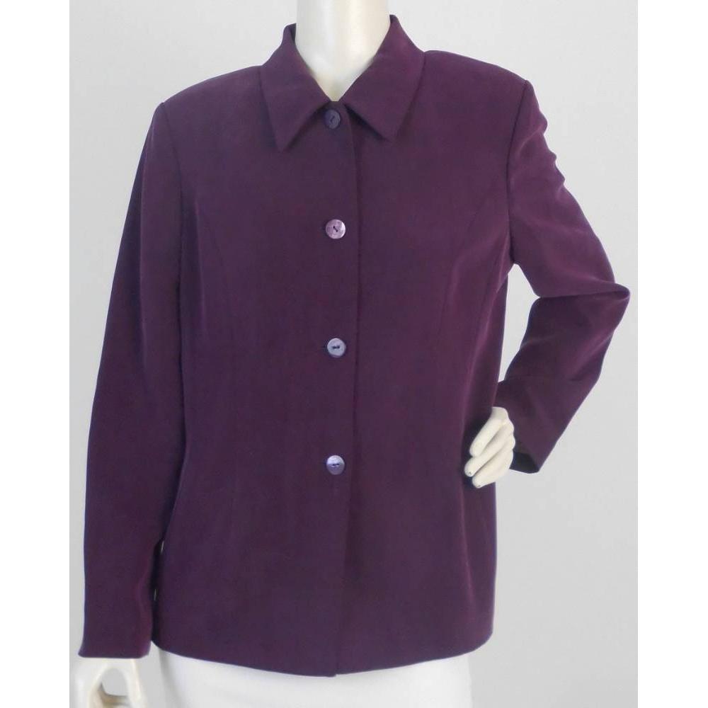 Austin Reed Smart Silk Jacket Purple Size 16 For Sale In London Preloved
