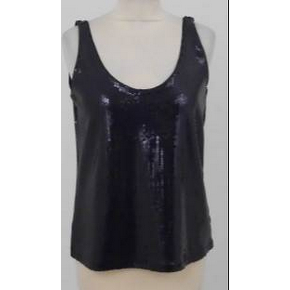 Preview of the first image of H&M Evening Top Black Size: XS.