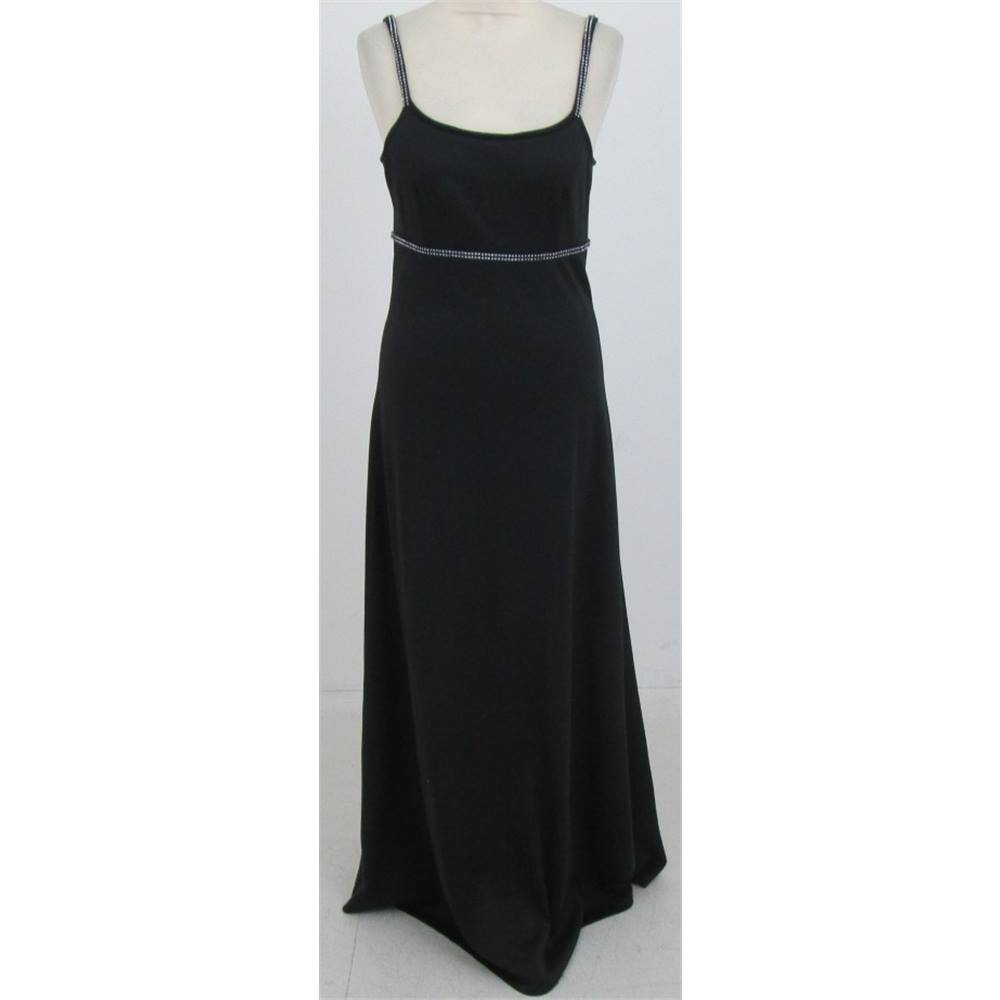 Preview of the first image of Unbranded thin straps evening dress black Size: S.