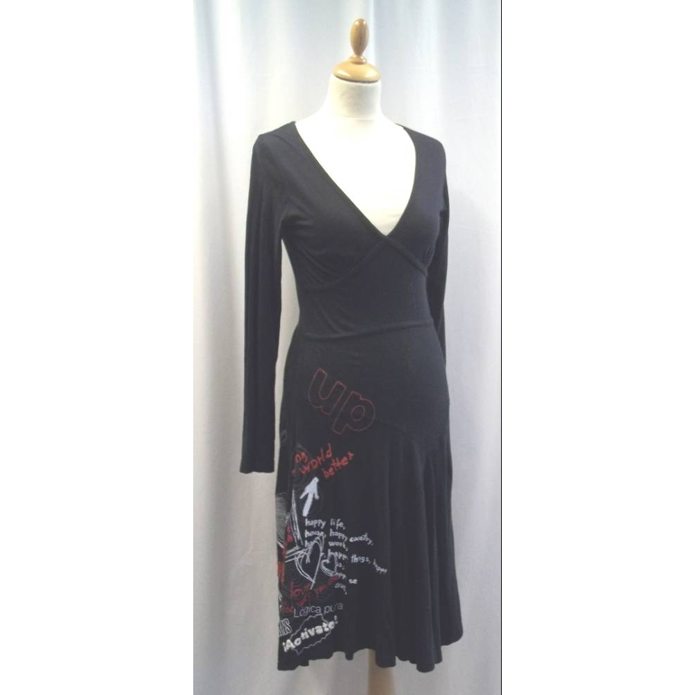 Preview of the first image of Desigual Dress Black Size: S.