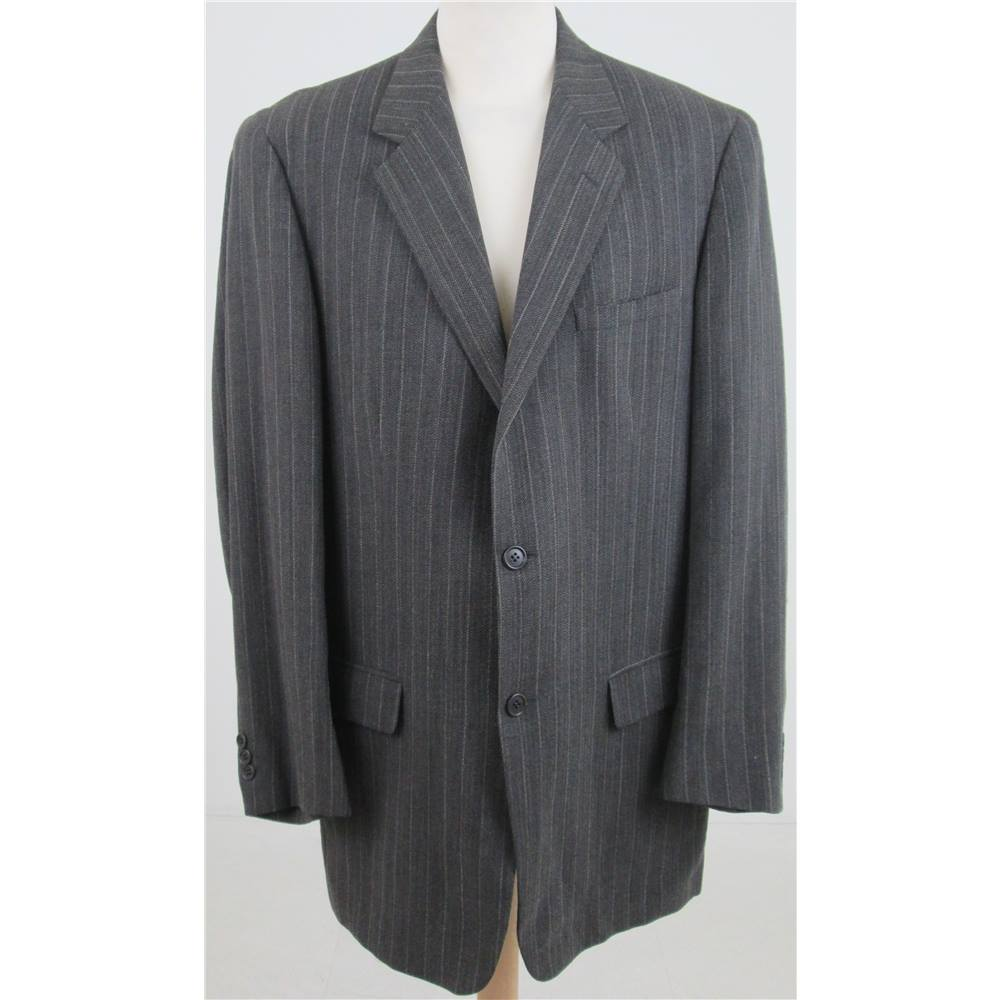 Preview of the first image of Cerutti 1881 at Harrods Striped Suit Jacket Brown Size: XXXL.