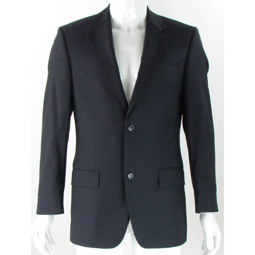 Preview of the first image of Lanificio F.lli Cerruti Dal 1881 Wool Single Breasted Jacket Navy Size: M.