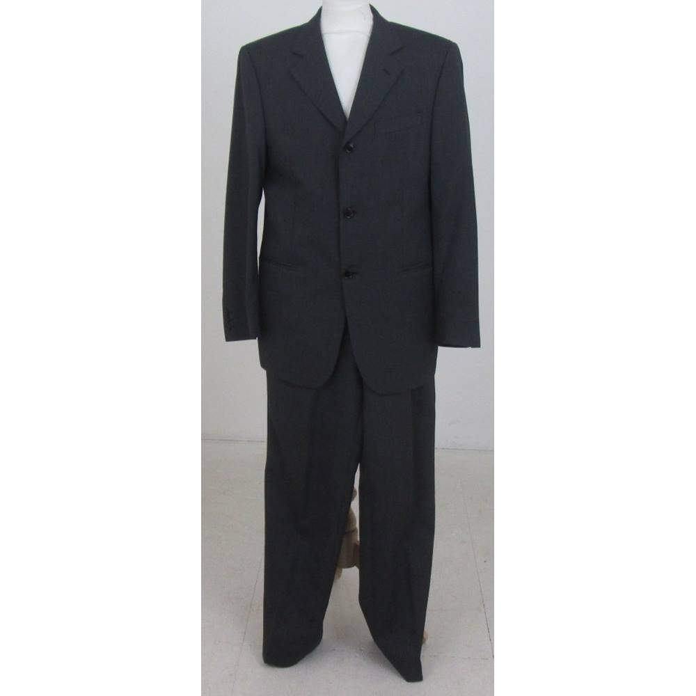 Preview of the first image of Ciro Citterio Single Breasted Suit Charcoal Grey Size: M.
