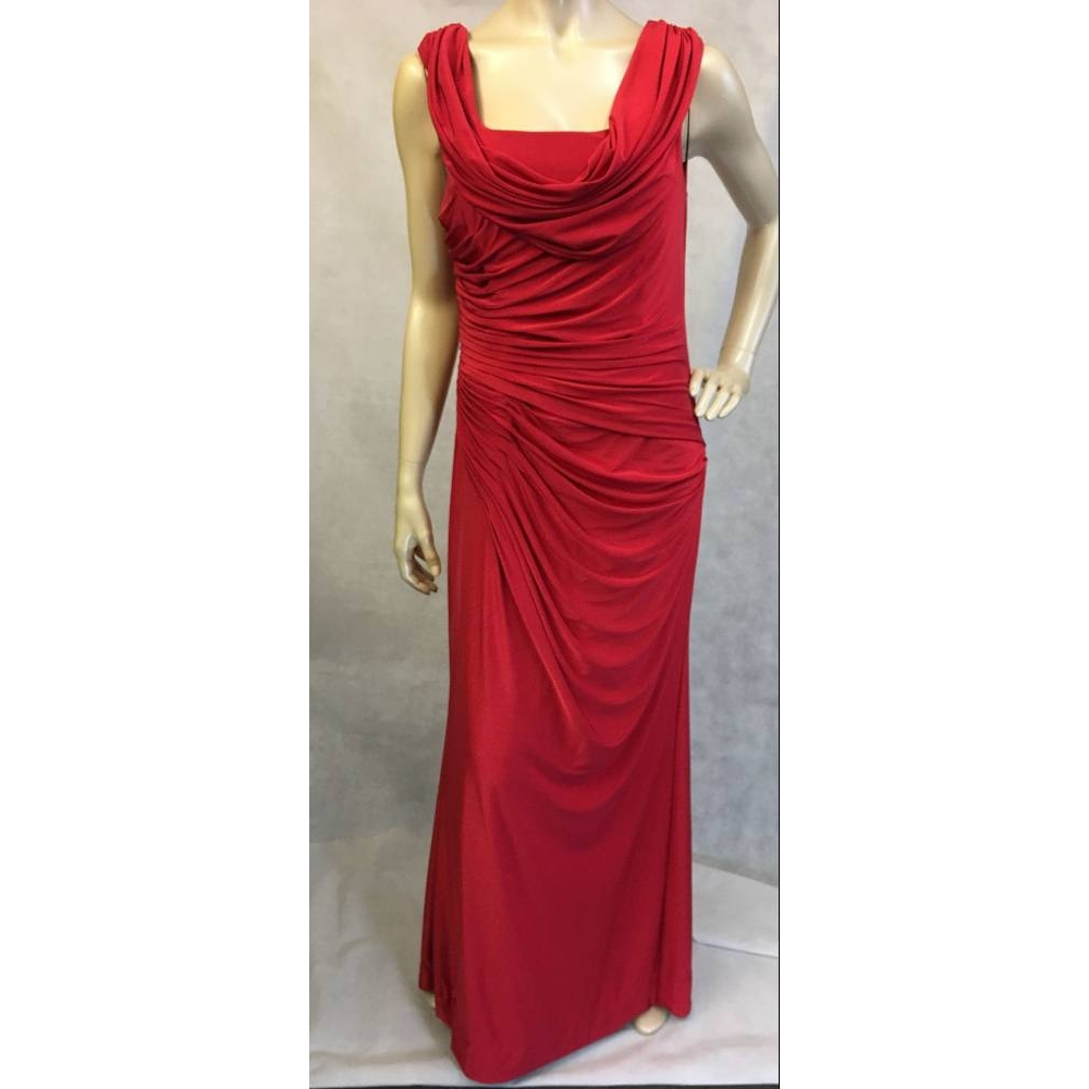 Preview of the first image of Aftershock full length dress Red Size: L.