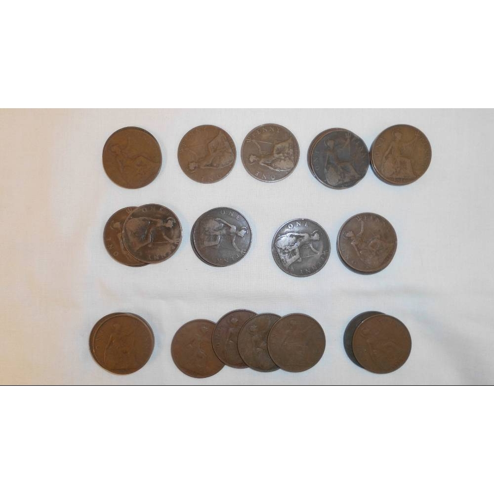 Preview of the first image of Selection of UK Coins 1899 - 1967.