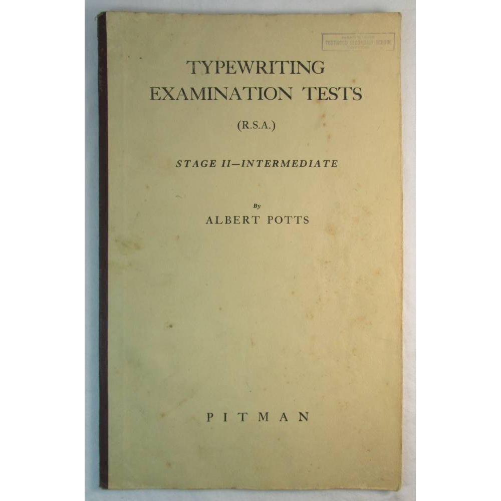 Preview of the first image of Typewriting Examination Tests (R.S.A.).
