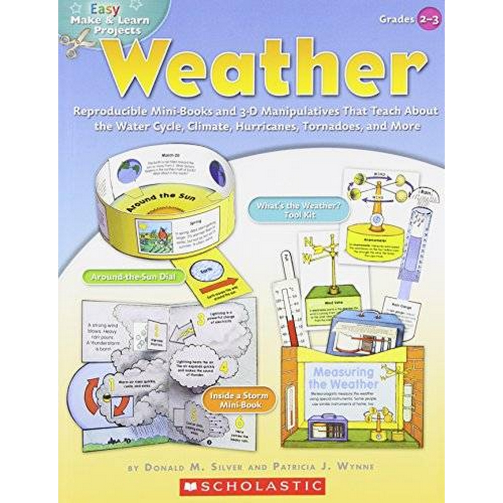 Preview of the first image of Easy Make & Learn Projects: Weather: Reproducible Mini-Books and 3-D Manipulatives That Teach about.